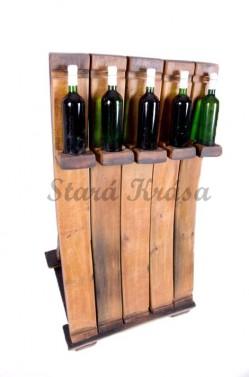 Dřevěný antik stojan na víno.