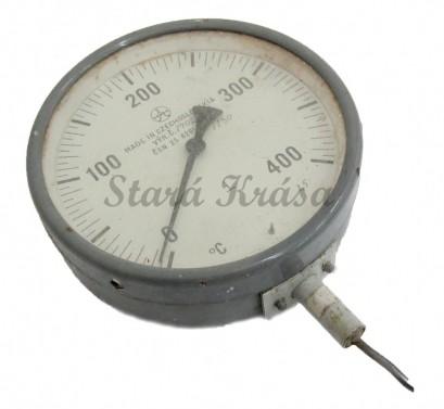 průmyslový - industriální tlakoměr - teploměr č.1