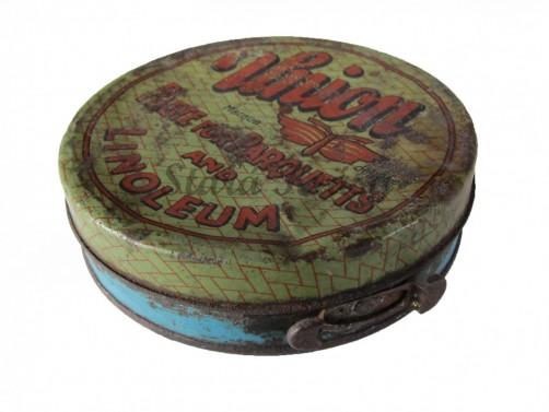 Originální starožitná plechová krabička na vosk č.2