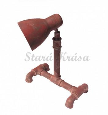 Průmyslová kovová lampička s imitací koroze. č.1
