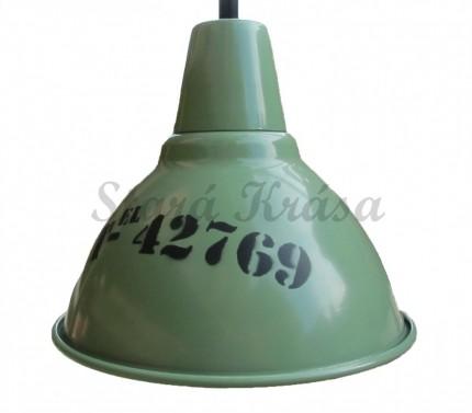 Hliníkové osvětlení s industriálním nápisem č.1