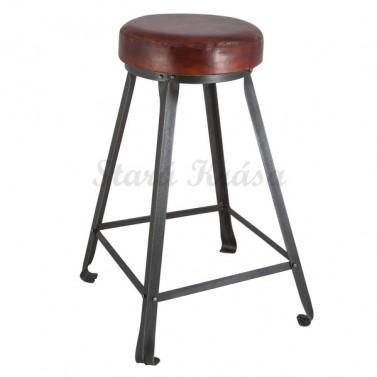 Luxusní barová židle z pravé kůže.
