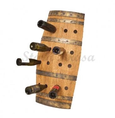 Praktický stojan na víno v selském stylu.