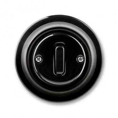 Černý retro vypínač.