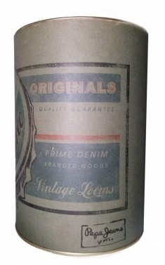 Vintage plechovka na jeany