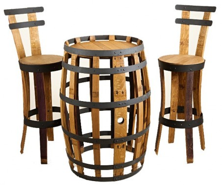 Luxusní barový set z dřevěného masivu v selském provedení
