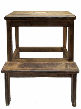 Selská stolička - schůdky.