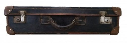Černý retro kufr