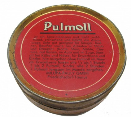 Retro plechová krabička Pulmoll