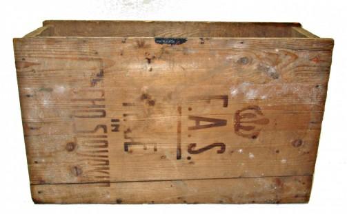 Vintage dřevěna bedna