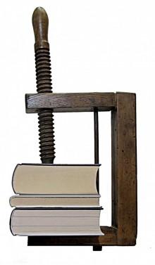 Designový dřevěný držák na knihy