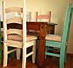 Bílá provence jídelní židle