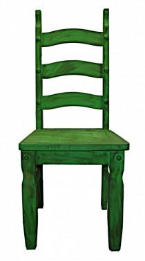 Robustní zelená jídelní židle