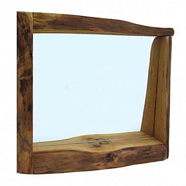Rustikální zrcadlo z ořechu