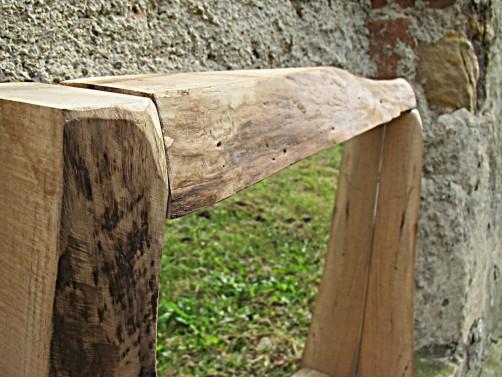 Dřevěné designové zrcadlo