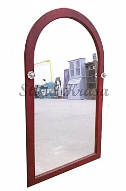 Dřevěné zrcadlo s vintage úpravou