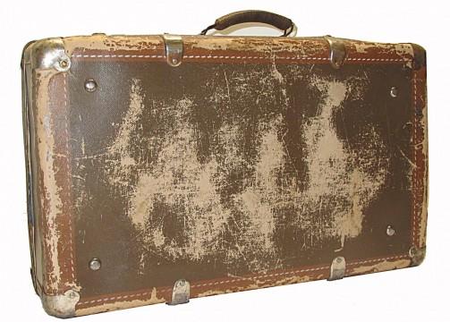 Starý originální retro kufr hnědé barvy č.1