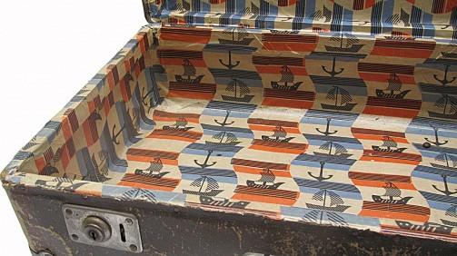 Starý originální retro kufr hnědé barvy č.3