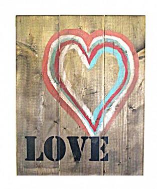 Dřevěný retro obraz na zeď