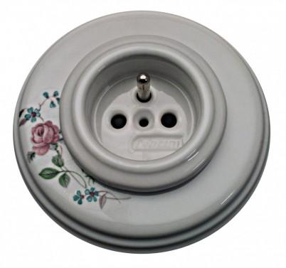 Historická porcelánová zásuvka