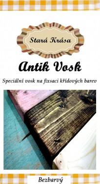 Bezbarvý vosk na křídové barvy - antik wachs