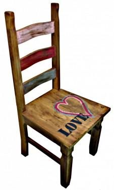 Středomořská jídelní židle z masivu