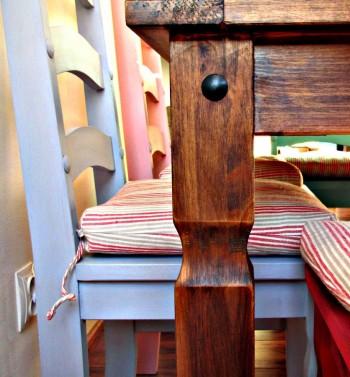 Modrá provence jídelní židle