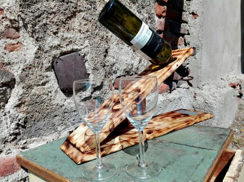 Vintage stojan na víno