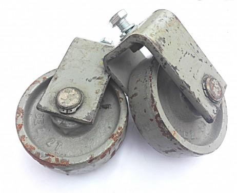 Dobová industriální kolečka - kovové kolečka pro výrobu vintage dekorací
