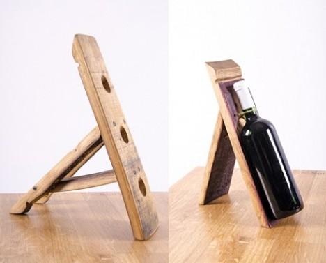 Stojany na víno v sade 2 ks - selský styl