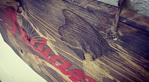 Staré vintage nápisy na dřevě