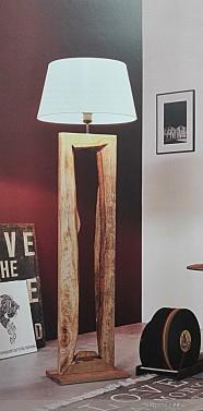 Luxusní stojací lampa ve vintage stylu z přírodního masivu