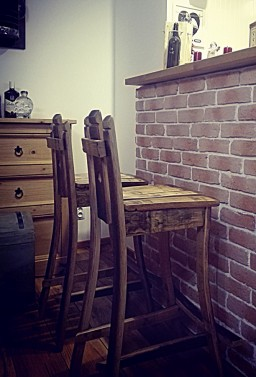 Stabilní barové židle z dubu