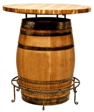 Designový barový stolek z masivu do barů a restaurací