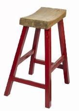 Barevné dřevěné barové židle