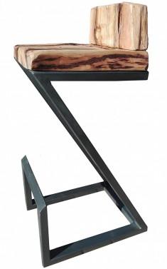 Luxusní industriální barová židle