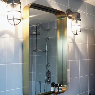 Industriální světla do koupelny