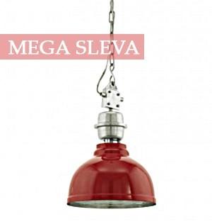 Velké kulaté svítidlo - červené