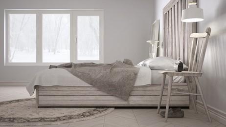 Harmonické spaní aneb křídové barvy v ložnici