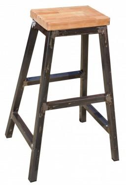 Industriální kovová barová židle