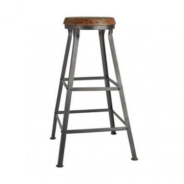 Industriální barová židle v průmyslovém retro stylu - 67cm
