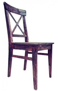 Tmavá patina - Jídelní židle . Stará Krása