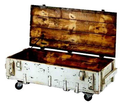 Konferenční stolek ze staré bedny