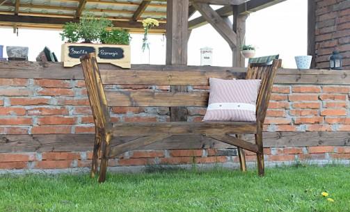 Rustikální lavice na zahradu