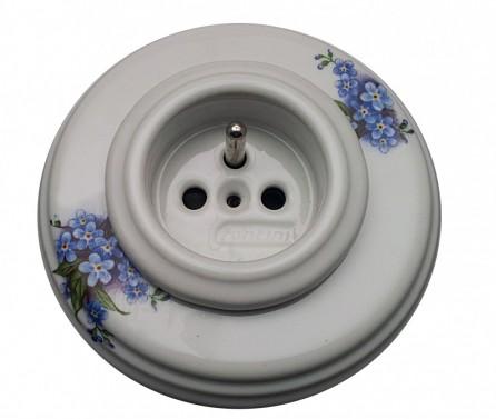 Porcelánová zásuvka s malbou pomněnka