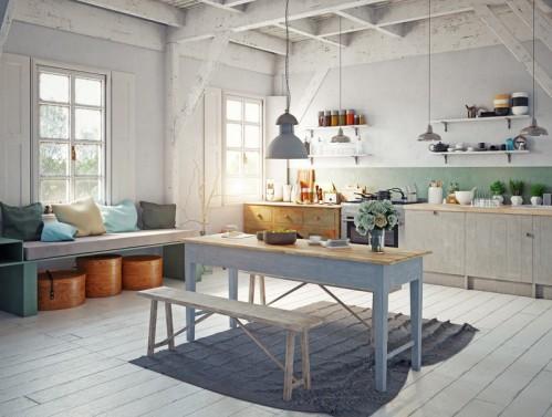 Barevné jídelní stoly