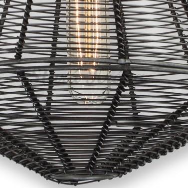 Ručně pletené vintage svítidlo - Kužel- Detail